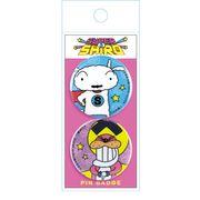【缶バッジ】スーパーシロ ペア缶バッジセット アップ クレヨンしんちゃん