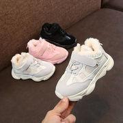 女児 コットン靴 厚さプラス 新しいデザイン 冬バージョン 男児 靴 レザー 防水 中
