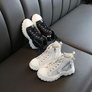 児童 アッパー高い スポーツシューズ 女児 靴 年 秋 新しいデザイン 二 コットン靴