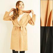 【即納】ラー展開♪無地シンプルカラ-リングデザインシングルコート[S]0642-0930/04-02