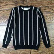 セーター 男 秋冬 丸襟 韓国風 個性 ストリーム 着やせ ボトムシャツ セーター 手厚