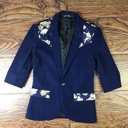 春夏 七分袖 スーツ 男 レジャー 着やせ 小さなスーツ 韓国風 小 サイズ 夏服 スト