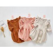 2020新品★ベビー連体服★オールインワン★ニットロンパース★子供服★可愛い★ニット服★3色66-100