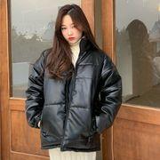 秋冬 新しいデザイン 襟 リント 服 女 韓国風 ルース 手厚い コットンコート パンコ