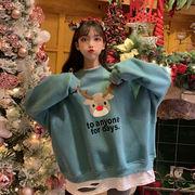 クリスマス エルク 何でも似合う ヘッジセーター 女 新しいデザイン 秋冬服 韓国風 ル