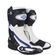 オートバイ ブーツ スピード バイカー レース バイク モトクロス 靴 ツーリング  膝丈 ライディンホワイト