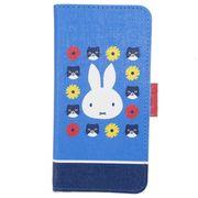 【スマホマルチケース】ミッフィー マルチフリップカバー miffy and cat ブルー