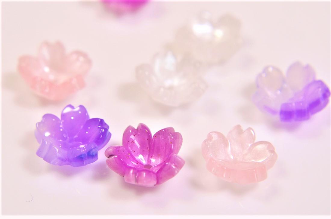 アソートペアセット 桜さくら キャップ 花モチーフ フラワーパーツ 春夏アクセサリー
