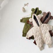 ベビーロンパース 冬 3色 カバーオール オールインワン 66-100cm ベビー服 INS 連体服 厚手