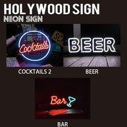 【HOLLYWOOD SIGN】NEON SIGN ネオンサイン【COCKTAIL 他】