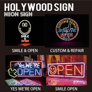 【HOLLYWOOD SIGN】NEON SIGN ネオンサイン【SMILE OPEN他】