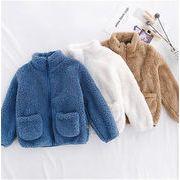 新作早割! サンゴベルベット 暖かい 厚手  秋冬 コート 裏起毛 トップス 短いスタイル スリムフィット