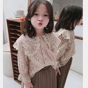 レース Tシャツ 長袖 キッズ トップス 韓国子供服 刺繍 カジュアル 女の子  2020新作 SALE