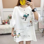 春夏新作 732194大きいサイズ 韓国 レディース ファッション    Tシャツ   LL-4L