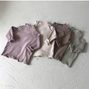 女の子 秋 冬 Tシャツ キッズ ブラウス トップス 長袖シャツ 子供服 4色
