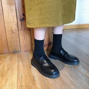 アンティーク調 英国スタイル ブラック 小さな靴 春 新しいデザイン ネット レッド 韓