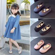 児童 靴 春秋 新しいデザイン ソフトボトム 女児 プリンセスの靴 ピーズ靴 ミルク 幼