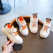 児童 スポーツシューズ 白い靴 スケートボード レジャー ランニングシューズ 男児 女児