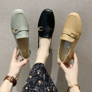 靴 女靴 春 新しいデザイン 何でも似合う スクエアヘッド フェアリー 風 ローヒール