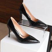 春 新しいデザイン ワイルド黒 セクシー ハイヒール 女 セレモニー 作業靴 細いヒール