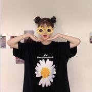 2020 新作 Tシャツ レディース 雛菊 可愛い ファッション 夏新作 韓国 半袖 おしゃれ