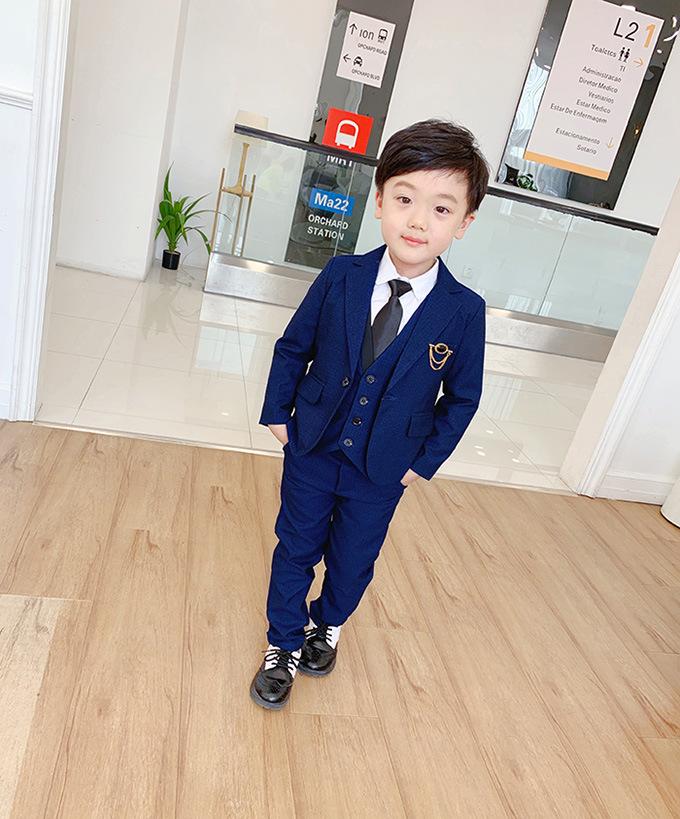 2020新作子供服 スーツ 入園 卒業式 入学式 発表会 結婚式 3点セット こどもスーツ  90-140cm 2色