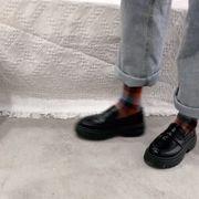 新しいデザイン ネット レッド 英国スタイル 小さな靴 女 ソフト レザー 韓国風 何で