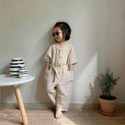 ★ベビーロンパース 韓国ファッション キッズ ベビー カバーオール オールインワン 子供服