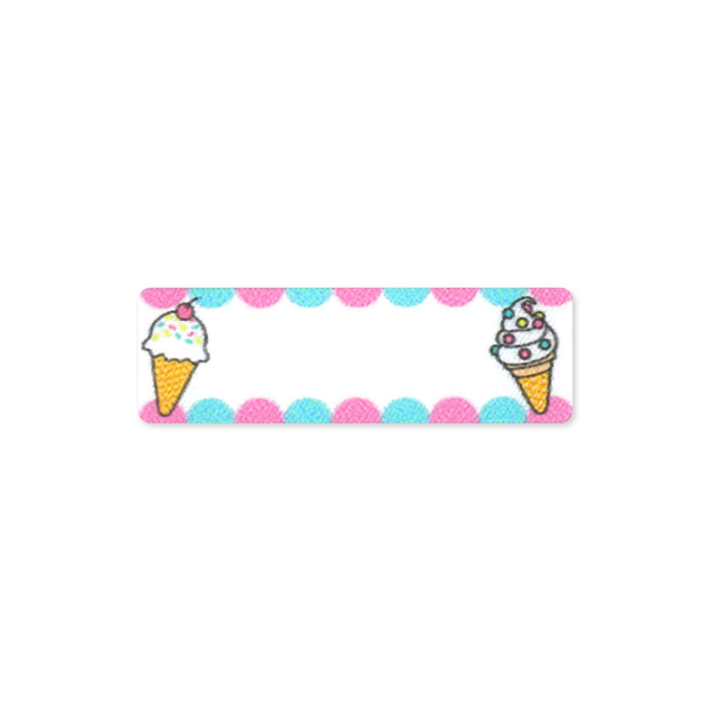 お気に入りシリーズ シール&アイロン接着 ネームラベル アイスクリーム