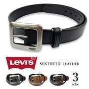 【全3色】 Levi's リーバイス ギャリソンバックル レザー ベルト 合成皮革 フェイクレザー