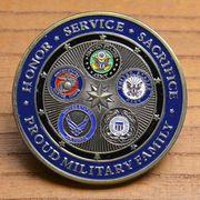 チャレンジコイン 紋章 アメリカ五軍 国防総省 記念メダル