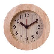 置き時計 ウッド ラウンド ナチュラル