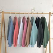 ベーシックデザイン 単一色 何でも似合う 手厚い セーター 女 新しいデザイン 韓国風