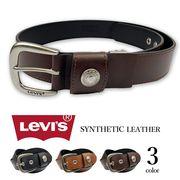 【全3色】 Levi's リーバイス コンチョデザイン レザー ベルト Levis 合成皮革 フェイクレザー ワイド