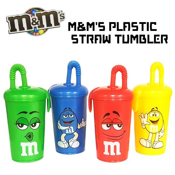 M&M'S プラスティックストロータンブラー