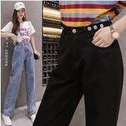【大きいサイズXL-5XL】ファッション/人気ジーンズ♪ブラック/ブルー2色展開◆