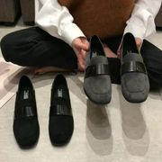 太いヒール 靴 女 新しいデザイン 秋と冬 英国スタイル 小さな靴 ミドルヒール 女性の