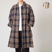【2020春夏新作】メンズ チェック オーバーサイズ シャツコート