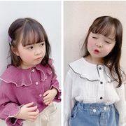 2020春日新品★アイテム★子供シャツ★キッズシャツ★長袖★女の子★可愛い★2色80-130