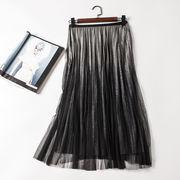 8色展開 光沢 チュールスカート シフォンスカート