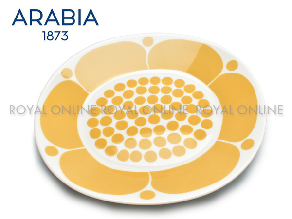 Y) 【アラビア】 1028202 食器 スンヌンタイ オーバル プレート 25cm SUNNUNTAI PLATE OVAL イエロー