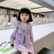 トップス パーカー 上着 長袖 キッズ 女の子 ワンピース 韓国子供服 2020新作 SALE ファッション