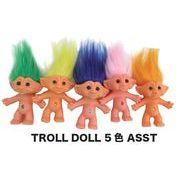 トロールドール5色アソート 人形 お守り troll 妖精