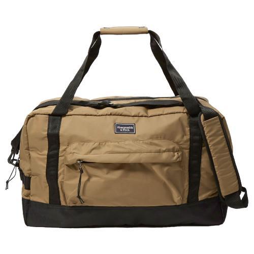 正規品 アバクロ ダッフルバッグ Abercrombie&Fitch Logo Duffle Bag (カーキー)