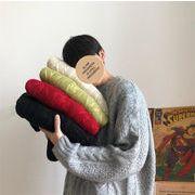 ガーリーなムード演出可能 ゆったりする トレンド ニットトップス メンズ 春 ラウンドネック セーター