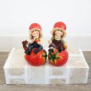 【直送可】ディスプレイとしてかわいい♪ 置物 人形 イチゴ 2SET