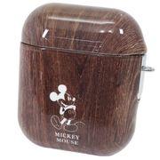 【イヤホン】ミッキーマウス AirPodsケース ウッド