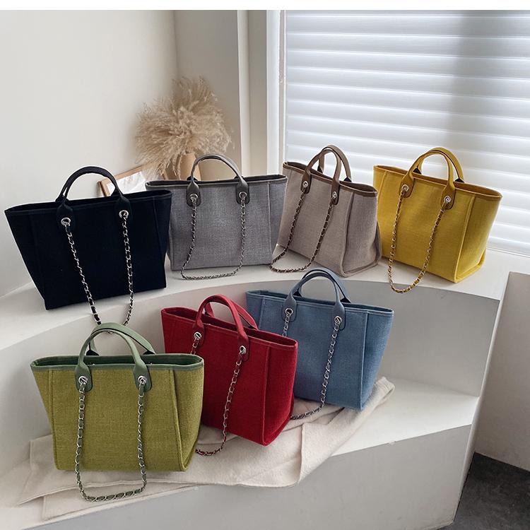 今から夏まで  INSスタイル 大容量 チェーン かばんを編みます かごバッグ ワンショルダーバッグ