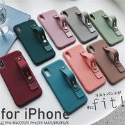iPhone 11 pro max  アイフォン スマホケース iphoneケース ベーシック リストバンド 落下防止