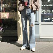 韓国ファッション レディース デニムパンツ ジーパン